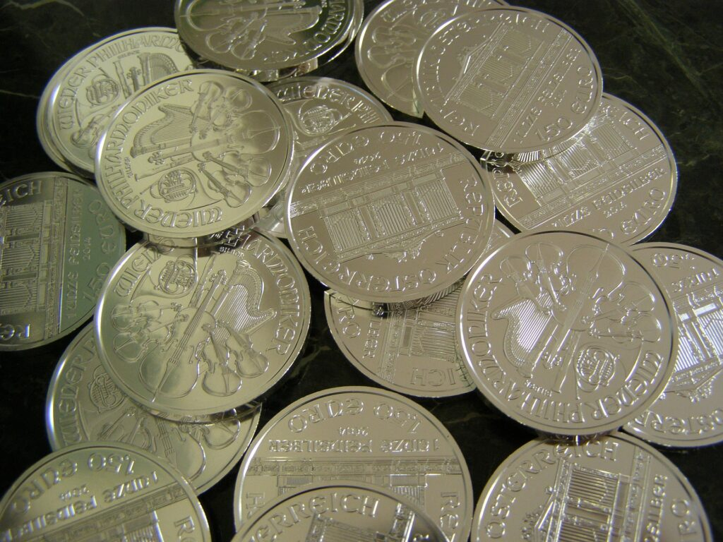 Silver philharmonic coins