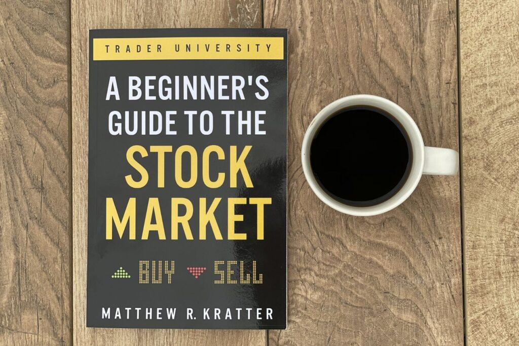 my copy of the beginners guide to the stock market and cup of coffee