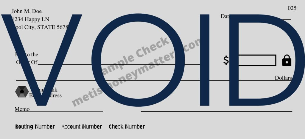 example of a completely voided check