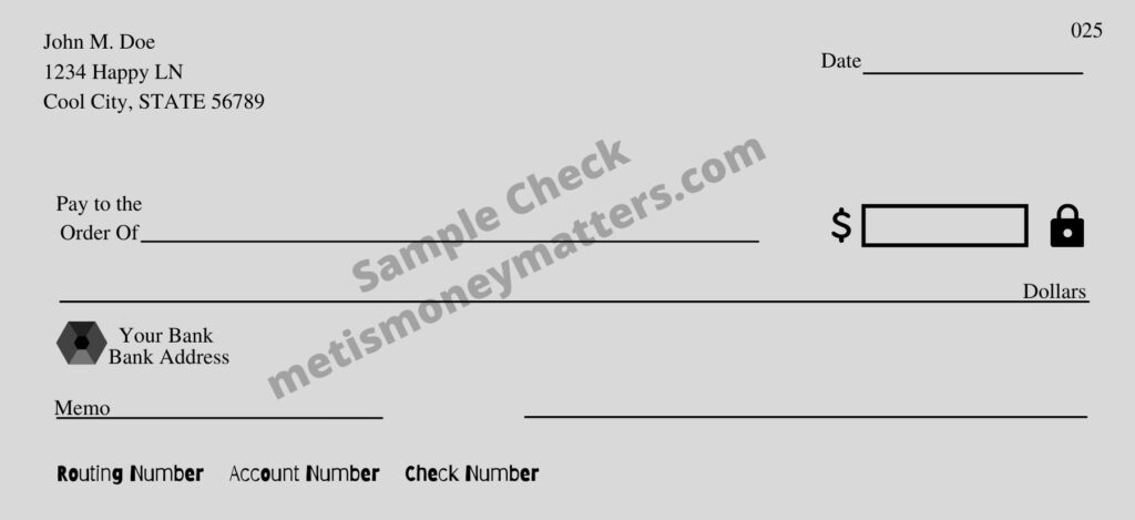 how to write a check: sample check