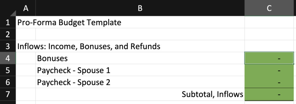 How to Budget in Excel - Part 1